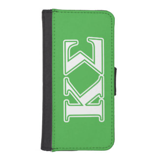 Kappa Sigma White and Green Letters iPhone 5 Wallet Case