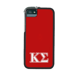 Kappa Sigma White and Red Letters iPhone 5 Cases