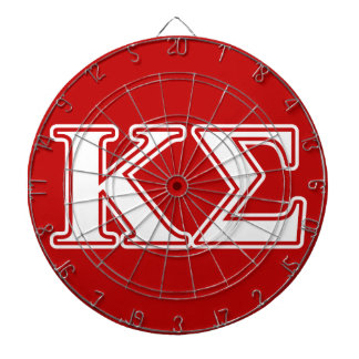 Kappa Sigma White and Red Letters Dartboards