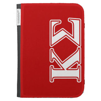 Kappa Sigma White and Red Letters Kindle 3 Cases