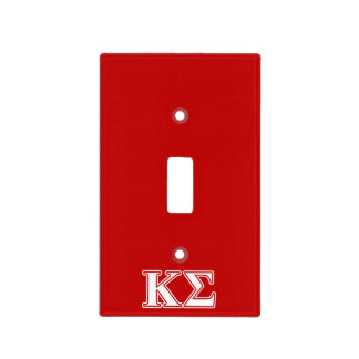 Kappa Sigma White and Red Letters Light Switch Plates