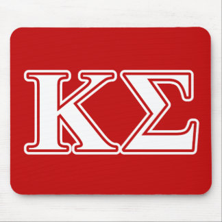 Kappa Sigma White and Red Letters Mouse Pad