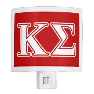 Kappa Sigma White and Red Letters Nite Lites