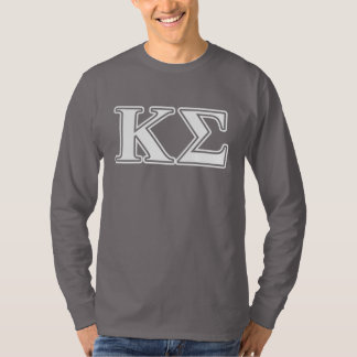 Kappa Sigma White and Red Letters T-Shirt