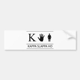 Kappa Slappa Ho Car Bumper Sticker