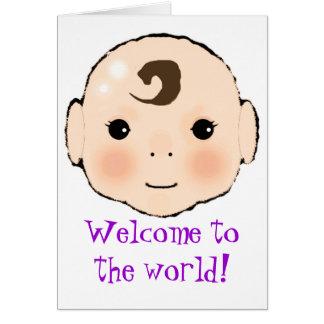 Kappuke-ki 'Welcome to the world' new baby card. Greeting Card