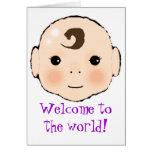 Kappuke-ki 'Welcome to the world' new baby card. Card