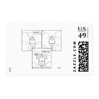 Kaptain Kernel Comic Strip Stamp