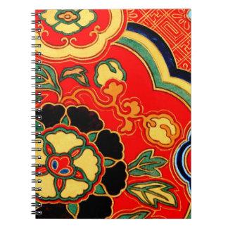 Kara Nishiki Red Chinese Brocade 1825 Note Books