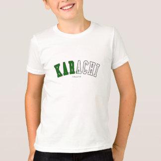 Karachi in Pakistan national flag colors T-Shirt