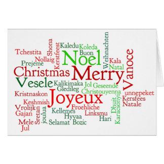 ¡Karácsonyt de Boldog! Felices Navidad en el rf Tarjeta De Felicitación