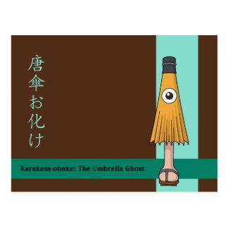 Karakasa-obake (Umbrella Ghost) Postcard