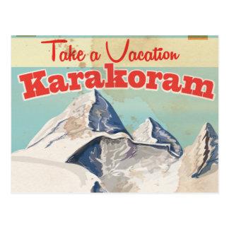 Karakoram Vintage vacation Poster Postcard