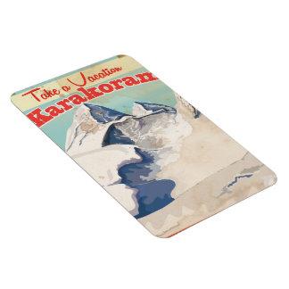 Karakoram Vintage vacation Poster Rectangular Photo Magnet