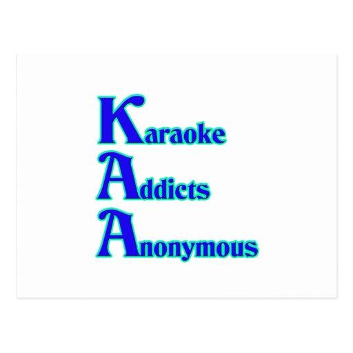 Karaoke Addicts Anonymous Postcard
