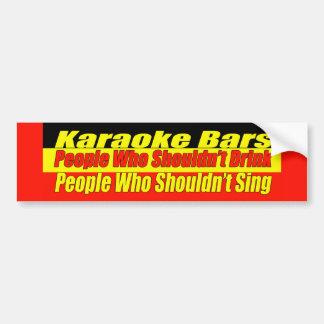 Karaoke Bars Bumper Sticker