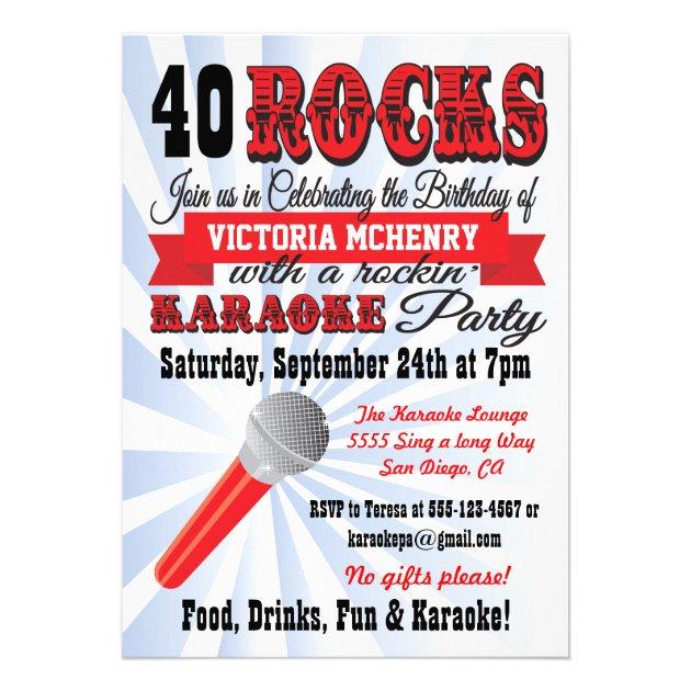 Karaoke birthday party poster style invitation stopboris Image collections