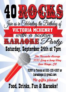 Karaoke party invitations zazzle karaoke birthday party poster style invitation stopboris Choice Image