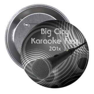 Karaoke 3 Inch Round Button