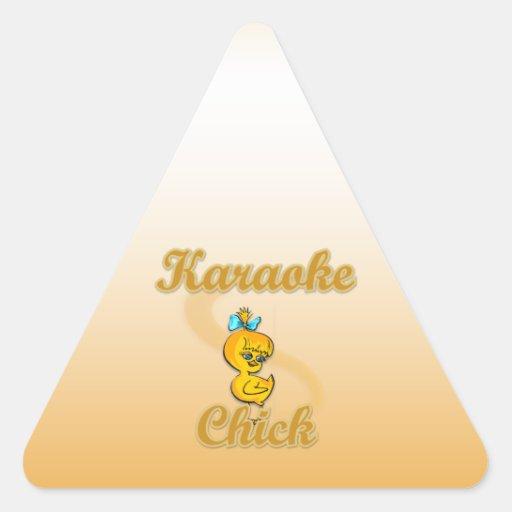 Karaoke Chick Triangle Sticker