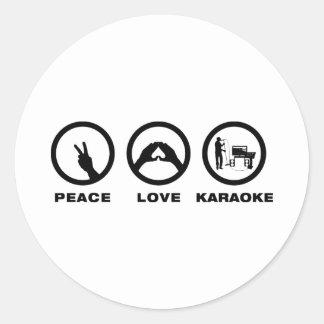 Karaoke Classic Round Sticker