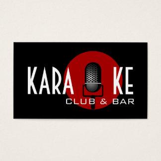 Karaoke Club and Bar Performance Entertainment Business Card