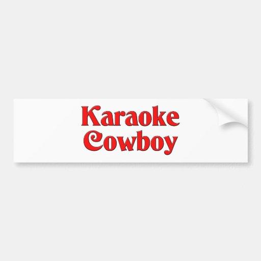 Karaoke Cowboy Bumper Sticker