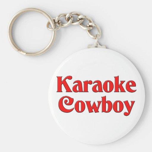 Karaoke Cowboy Keychains