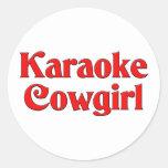 Karaoke Cowgirl Stickers