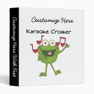 Karaoke Croaker 3 Ring Binder