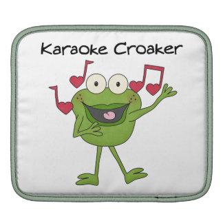 Karaoke Croaker iPad Sleeves