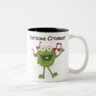 Karaoke Croaker Coffee Mugs