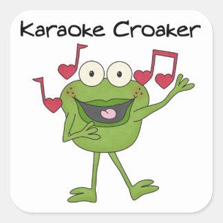 Karaoke Croaker Square Sticker