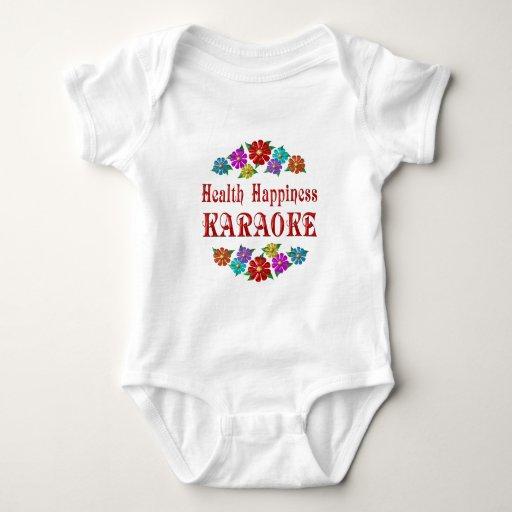 Karaoke de la felicidad de la salud t-shirt