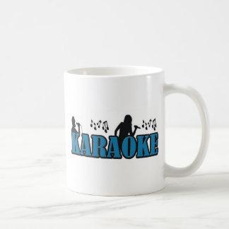 Karaoke de la sombra taza básica blanca