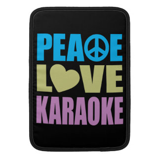 Karaoke del amor de la paz funda macbook air