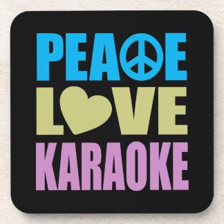 Karaoke del amor de la paz posavasos