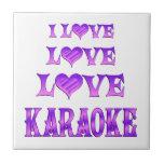 Karaoke del amor del amor azulejo