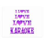 Karaoke del amor del amor postal