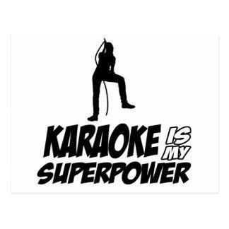 Karaoke designs postcard