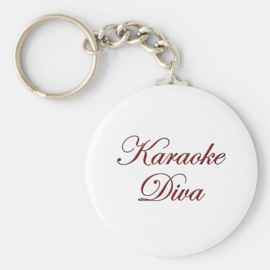 Karaoke Diva Keychain