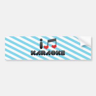 Karaoke fan bumper sticker