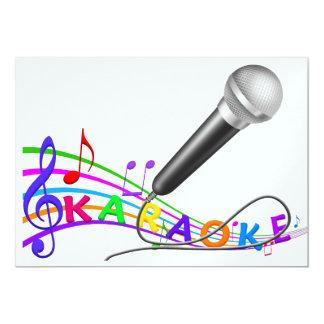 "KARAOKE - fiesta invite - SRF Invitación 5"" X 7"""