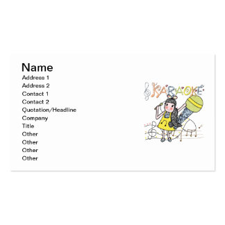 Karaoke Girl Double-Sided Standard Business Cards (Pack Of 100)