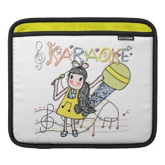 Karaoke Girl iPad Sleeve