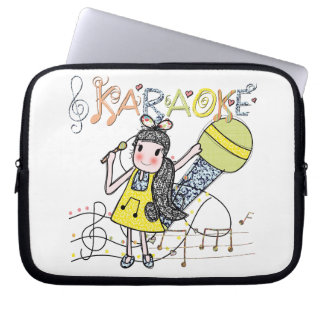 Karaoke Girl Laptop Sleeve