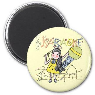Karaoke Girl Fridge Magnet