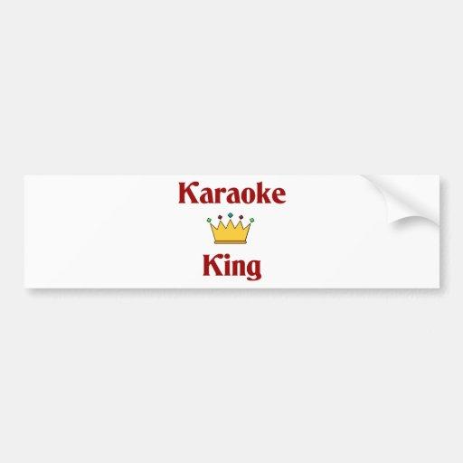 Karaoke King Bumper Stickers