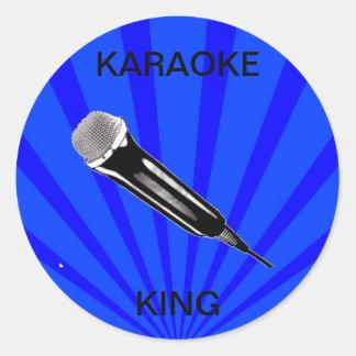 Karaoke King Classic Round Sticker