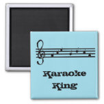 Karaoke King - magnet Refrigerator Magnet